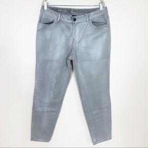 Lane Bryant NWOT Genius Fit Skinny Jeans Silver